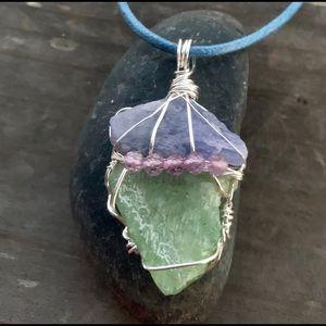 Tanzanite, Peridot & Pale Amethyst Pendant